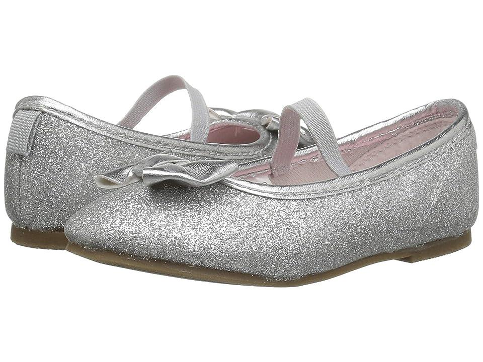 Carters Bigbow 5 (Toddler/Little Kid) (Silver Metallic PU/Glitter PU) Girl