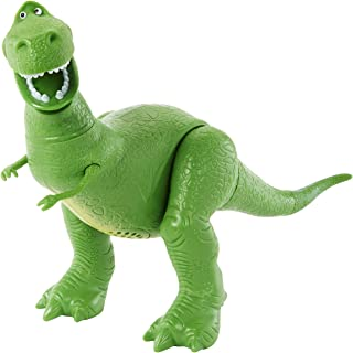 Disney/Pixar Toy Story 4 True Talkers Rex Figure, 7.8 in / 19.81 cm-Tall Posable, Talking Character Figure with Authentic Movie-Inspired Look and 15+ Phrases, Gift for Kids 3 Years and Older