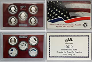 2010 S Silver America the Beautiful National Parks Quarters Proof Set with Box and CoA Proof
