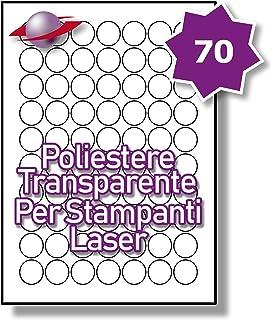 LP12//63 SMP. 12 Par Foglio 60 Etichette Label Planet/® Etichette Metalliche in Argento A4 su Poliestere per la Stampa Laser 63.5 x 72mm 5 Fogli
