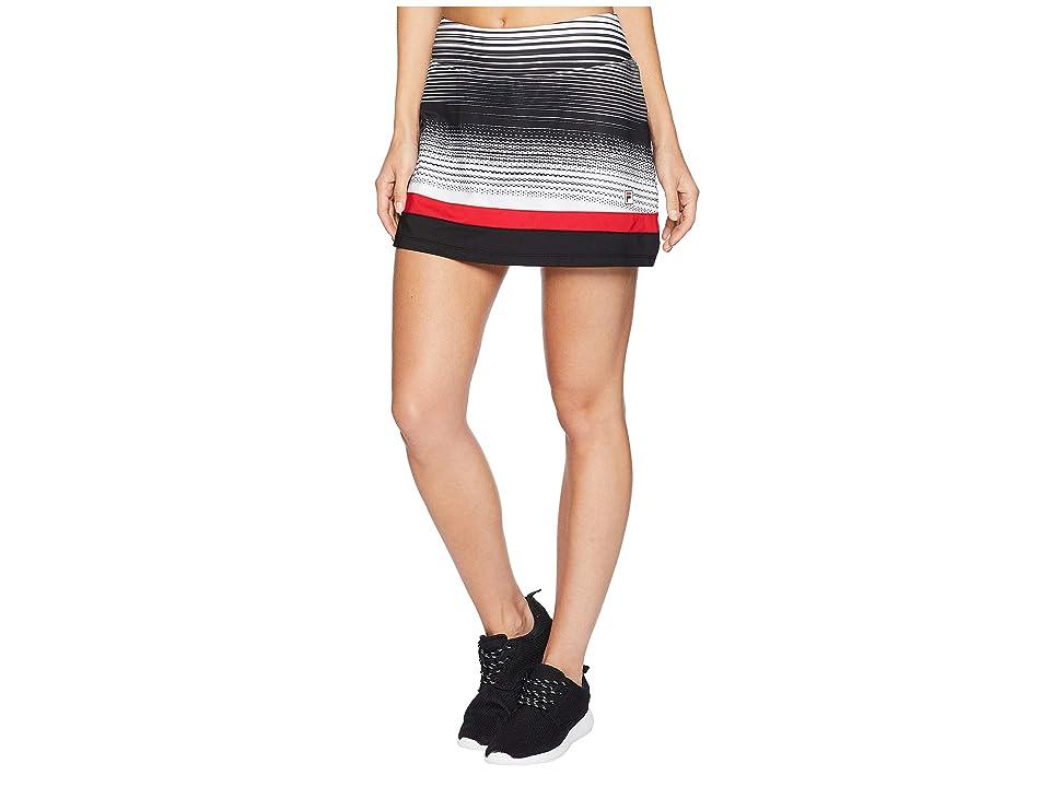 Fila Heritage Tennis Skort (Heritage Stripe/Black/Crimson) Women