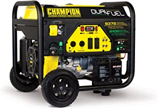 Champion Power Equipment 100165 9375/7500-Watt Dual Fuel Portable Generator with Electric Start