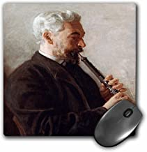 3dRose BLN Music Featured in Fine Art Collection – The Oboe Player by Thomas Eakins, 1903 – MousePad (mp_172987_1)