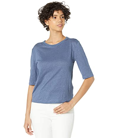 Vince Linen Relaxed Elbow Sleeve Crew
