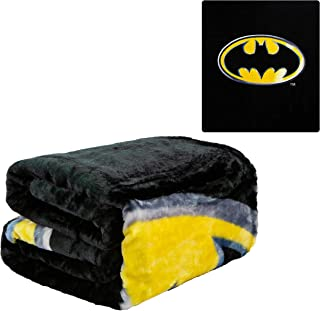 JPI Batman Emblem Super Soft Plush Blanket 100% Polyester Fiber 79