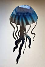 """Jellyfish Metal Wall Art Accent Blue Tinged or NEW Teal Tinged16"""" x 7 3/4"""""""