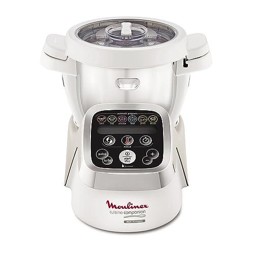 Moulinex Cuisine Companion HF802A Robot Cocina con 6 programas automáticos, 4,5 L de Capacidad 6 Personas, 12 velocidades y Temperatura de 30º a 130º, función de Mantenimiento de la Calor 45 min