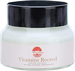 Red Root Vitamins Rooted Under Eye cream to Reduce Dark Circles & Wrinkles, Puffy Eyes Treatment, Skin Rejuvenating and Ey...