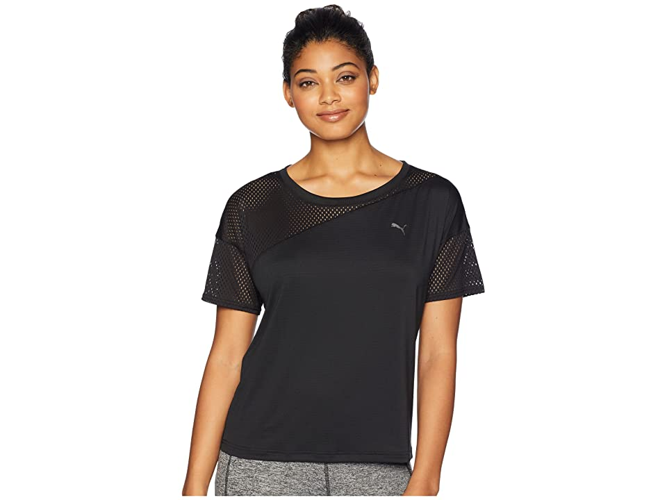 PUMA A.C.E. Mesh Blocked Tee (Black) Women