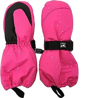 HIGHCAMP Toddler Kids Boy Girl Waterproof Ski Snow Mittens Winter Warm Cold Weather Gloves Long Cuff
