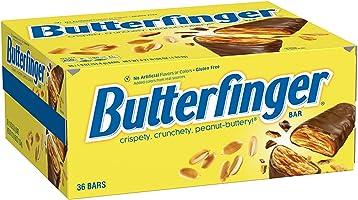 Butterfinger Milk Chocolate Candy Bars, Full Size Bulk Ferrero Candy, 54g (Pack of 36)