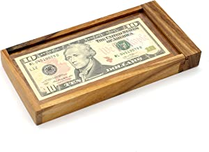 Gift Adult Surprise Money of The ATM Puzzles Wooden Gift Boxes Holder with Hidden Compartment Box to Be Money Puzzle Gift Boxes and Brain Teaser Puzzle Challenges with a Secret Lock Wood Designs