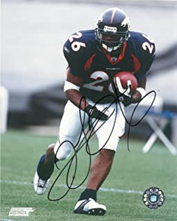 Clinton Portis, Denver Broncos, Miami Hurricanes, Signed, Autographed, 8x10 Photo,coa, Rare Hard Photo to Find
