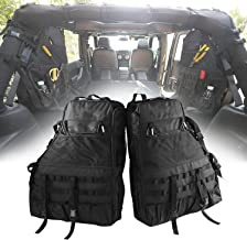 Roll Bar Storage Bag Cage with Multi-Pockets & Organizers & Cargo Bag Tool Kits for Jeep Wrangler JK TJ LJ & Unlimited 4-Door 1997-2018