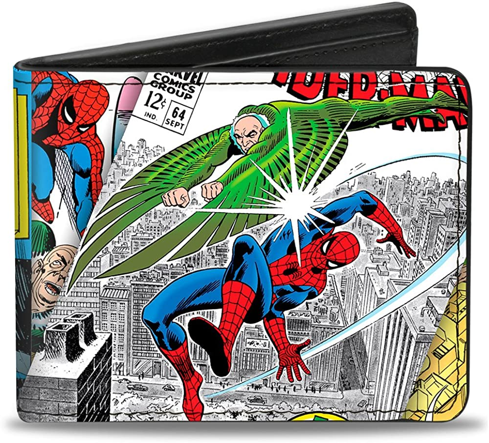 Buckle-Down Men's Spider-Man & Vulture Battle + Vulture Gargoyle, Multicolor, Standard Size