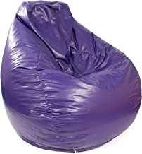 Gold Medal Bean Bags 30011246817TD Large Leather Look Tear Drop Bean Bag, Purple