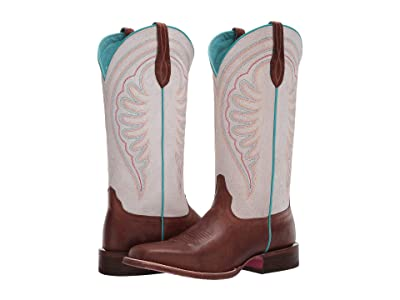 Ariat Circuit Shiloh (Red Brown/Crackled White) Cowboy Boots