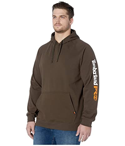 Timberland PRO Big Tall Hood Honcho Sport Pullover (Dark Brown) Men