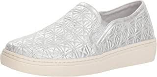 Skechers Women's Goldie-Distressed Metallic Quilted Slip on Sneaker US