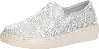 Women's Goldie-Distressed Metallic Quilted Slip on Sneaker
