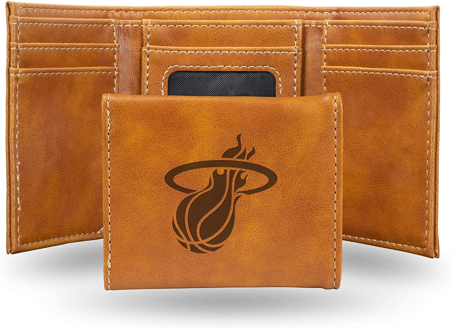 NBA Today's only Rico Industries Laser Engraved Miami Heat Los Angeles Mall Trifold Wallet