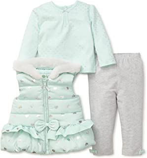Little Me Baby Girls' 3 Piece Fashion Jacket and Legging Set