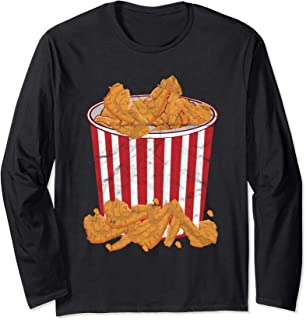 Fried Chicken Bucket Funny Halloween Costume Long Sleeve T-Shirt