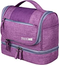 Hanging Travel Toiletry Bag for Short Trip, Portable Toiletry Organizer Kit with Mesh Pockets & Sturdy Hook, Dry and Wet Depart