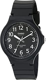Men's Classic Quartz Watch with Resin Strap, Black, 20.15 (Model: MW240-1BV)
