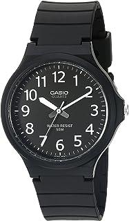Men's Classic Quartz Watch with Resin Strap, Black, 20.15...