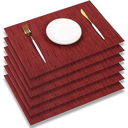 TININNA Simple Mode Anti-d/érapant Gradient PVC Set de Placemats Dining Table Mat Cuisine Napperons Set of 4 pcs