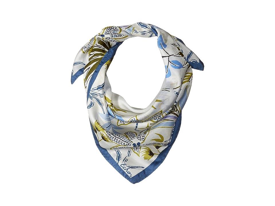 Echo Design Jungle Palm Silk Square Scarf (Chambray) Scarves, White
