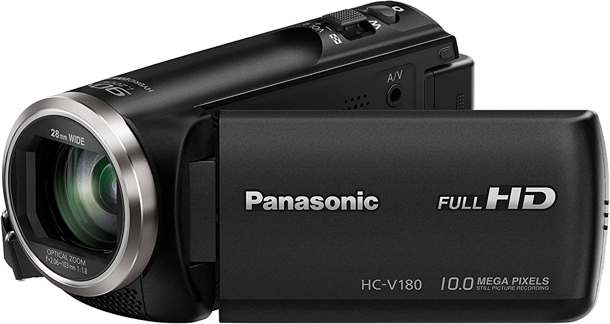Panasonic HC-V180EG-K - Videocámara (251 MP MOS BSI 25.4/5.8 mm (1/5.8) 1.67 MP 2.2 MP 50x) (versión importada)