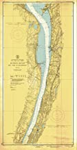 Map - Hudson River, 1947 Nautical NOAA Chart - Vintage Wall Art - 36in x 72in