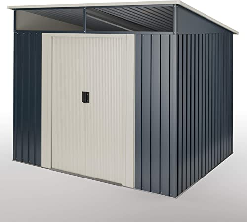 wasabi Abri de Jardin Stark 5.60 m2 - Garantie 10 Ans - 236x238x203cm