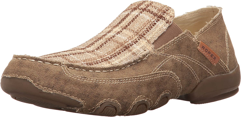 Roper Men's Dougie shoes, Tan Plaid, 10 D US
