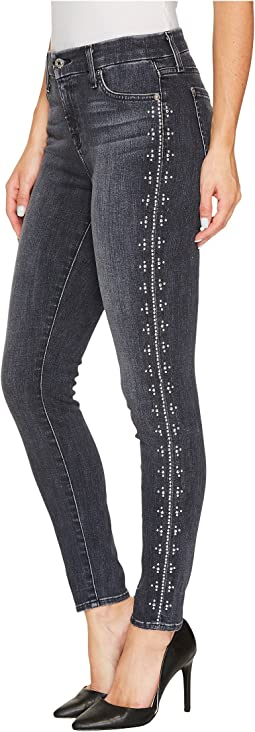 7 For All Mankind - The Ankle Skinny w/ Studs in Vintage Noir