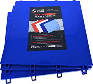 """Sniper's Edge Hockey Dryland Slick Tiles (10 Blue Squares) – Premium Grade Technology with UV Coated Protection, Built to Last & Sized Right at 12"""" X 12"""" Per Tile (10 sq ft. per Box) – Made in USA"""