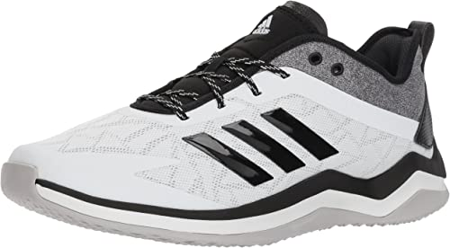 Adidas Men's Speed Trainer 4 Baseball chaussures, Crystal blanc noir Carbon, 10.5 M US