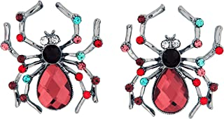 Costume Co. Women's Wicked Gems Jeweled Spider Earrings, Multicolor, One Size