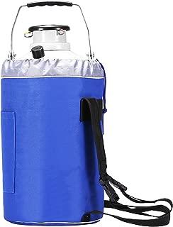 BestEquip Liquid Nitrogen Container Aluminum Alloy Liquid Nitrogen Tank Cryogenic Container with 3 Canisters and Carry Bag (3L)