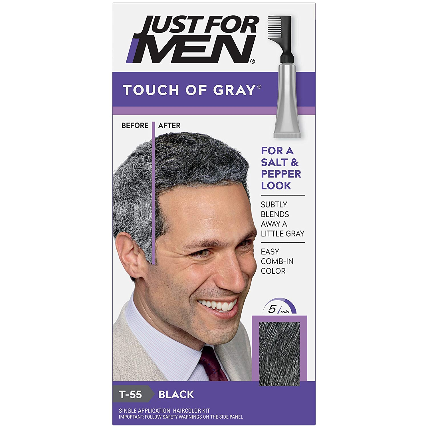 Just At the price of surprise for Men Hair Color -- Touch Pack Mesa Mall Gray 3 Black-Gray.
