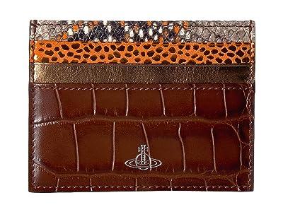 Vivienne Westwood Elizabeth Flat Card Holder (Brown) Handbags