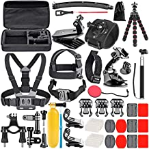 Neewer Upgraded 50-in-1 Action Camera Accessory Kit Compatible with GoPro Hero 8 Max 7 6 5 4 Black GoPro 2018 Session Fusi...
