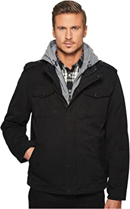Levi's® - Two-Pocket Hoodie with Zip Out Jersey Bib/Hood and Sherpa Lining