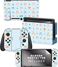 """Controller Gear Aunthentic & Officially Licensed Animal Crossing: New Horizon - """"Outdoor Pattern"""" Nintendo Switch Skin Bundle"""