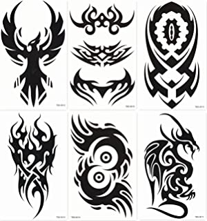 DaLin Temporary Tattoos for Guys 6 medium sheets