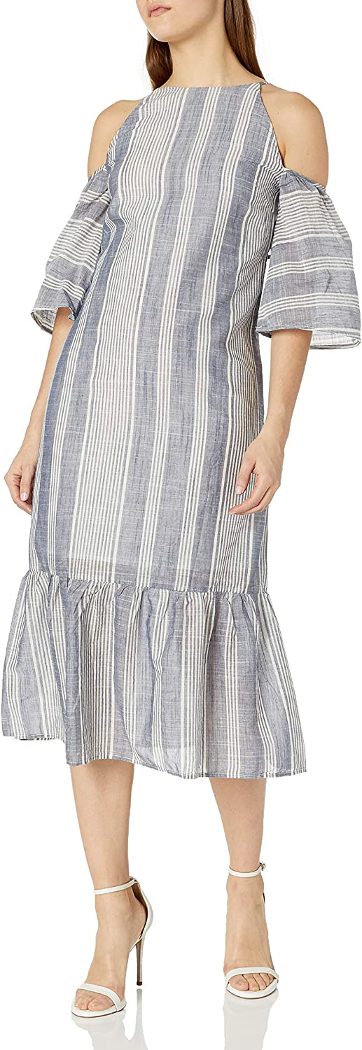 Lucca 特別セール品 Couture Women's Stripe 手数料無料 Maxi Shoulder Dress Cold