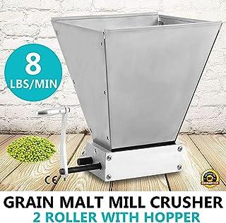 S SMAUTOP Trituradora de molienda de Cebada de 2 Rodillos de Molino de Grano de Malta de Cebada Manual para Hacer Cerveza casera (batido de Mano)