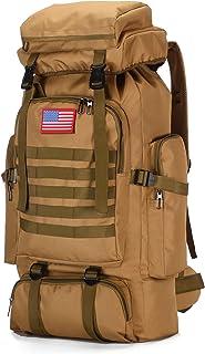 70L التخييم المشي لمسافات طويلة العسكرية التكتيكية حقيبة الظهر في الهواء الطلق طارد للماء حقائب رياضية قابلة للتعديل